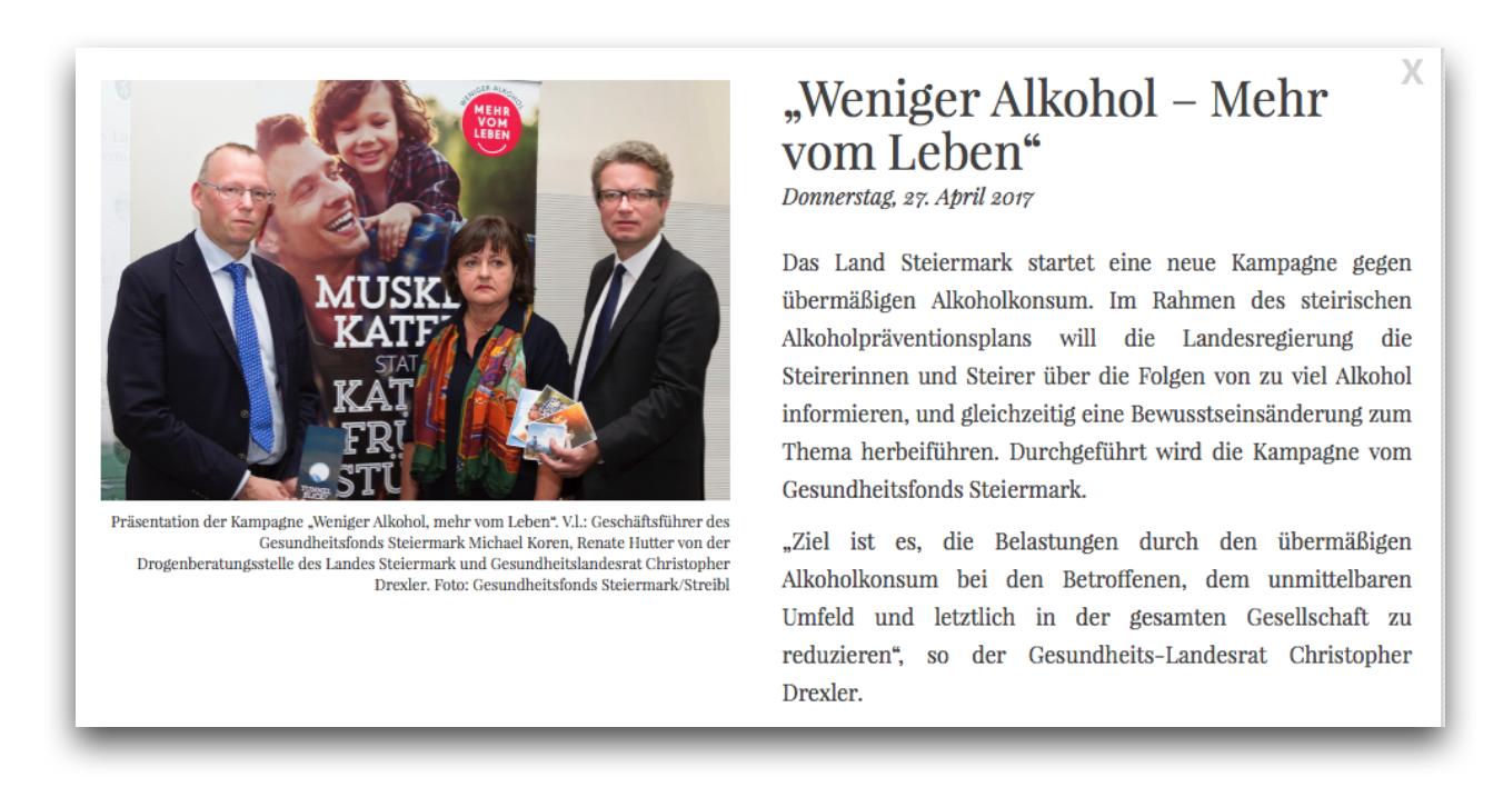 Kampagnen-Auftakt in Graz – Weniger Alkohol – Mehr vom Leben